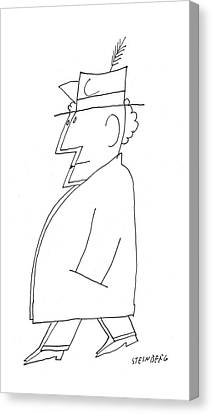 New Yorker December 24th, 1955 Canvas Print by Saul Steinberg
