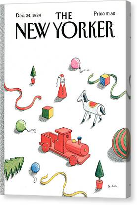 1984 Canvas Print - New Yorker December 24th, 1984 by Pierre LeTan