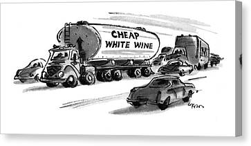 Wines Canvas Print - New Yorker December 25th, 1978 by Lee Lorenz