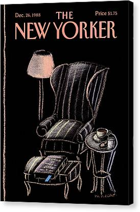 New Yorker December 26th, 1988 Canvas Print by Merle Nacht