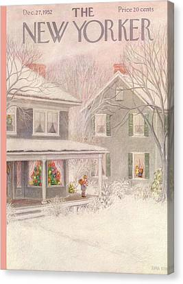 Decoration Canvas Print - New Yorker December 27th, 1952 by Edna Eicke
