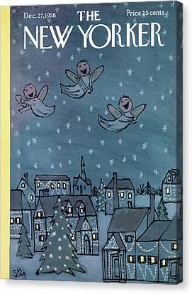 New Yorker December 27th, 1958 Canvas Print by William Steig