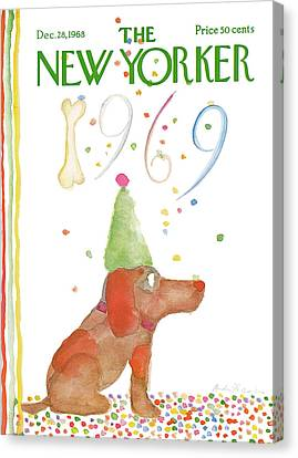 New Yorker December 28th, 1968 Canvas Print by Andre Francois