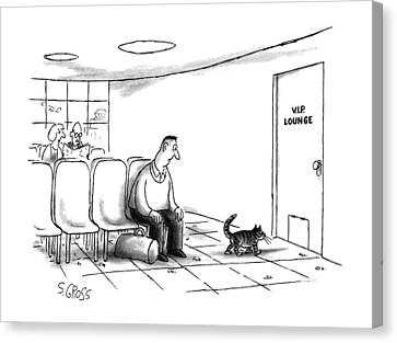 New Yorker December 2nd, 1991 Canvas Print by Sam Gross