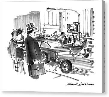 New Yorker December 2nd, 1996 Canvas Print by Bernard Schoenbaum