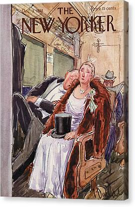 New Yorker December 3rd, 1938 Canvas Print by Perry Barlow