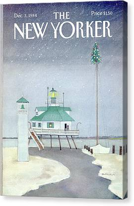 Attaching Canvas Print - New Yorker December 3rd, 1984 by Susan Davis