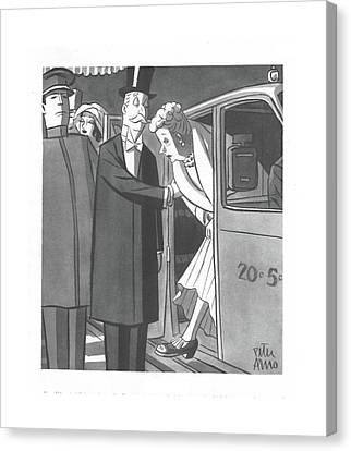 New Yorker December 4th, 1943 Canvas Print by Peter Arno