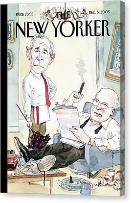 Dick Cheney Canvas Print - New Yorker December 5th, 2005 by Barry Blitt