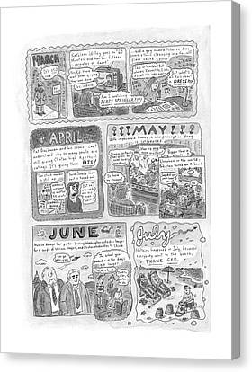 New Yorker December 7th, 1998 Canvas Print by Roz Chast