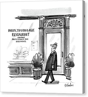 Ashe Canvas Print - New Yorker December 8th, 1986 by Dana Fradon
