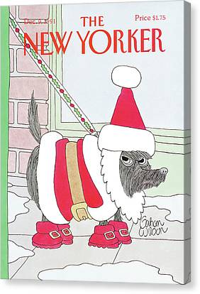 New Yorker December 9th, 1991 Canvas Print