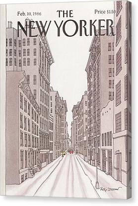 New Yorker February 10th, 1986 Canvas Print