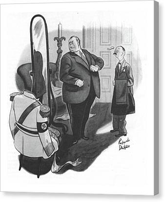 New Yorker February 12th, 1944 Canvas Print by Richard Decker