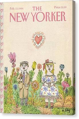 New Yorker February 13th, 1984 Canvas Print by William Steig