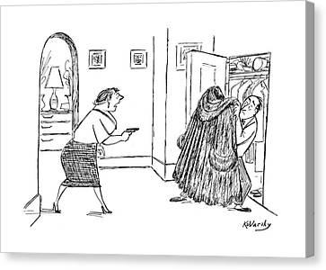 New Yorker February 14th, 1953 Canvas Print by Anatol Kovarsky