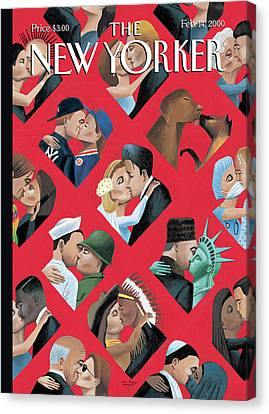 New Yorker February 14th, 2000 Canvas Print by Mark Ulriksen