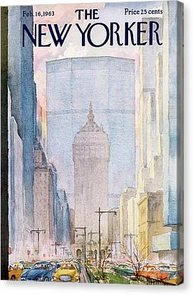 New Yorker February 16th, 1963 Canvas Print by Alan Dunn