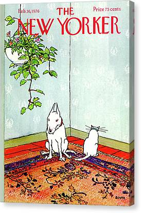 Pet Canvas Print - New Yorker February 16th, 1976 by George Booth