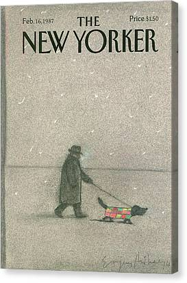 New Yorker February 16th, 1987 Canvas Print by Eugene Mihaesco