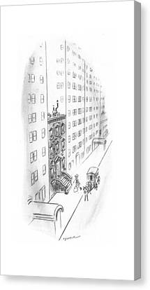 New Yorker February 17th, 1940 Canvas Print by Leonard Dove
