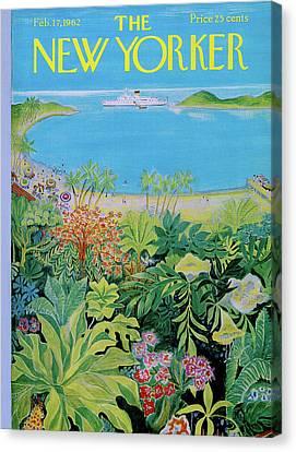 Cruise Ship Canvas Print - New Yorker February 17th, 1962 by Ilonka Karasz