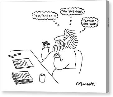 New Yorker February 17th, 1986 Canvas Print by Charles Barsotti
