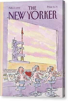 New Yorker February 17th, 1992 Canvas Print by James Stevenson