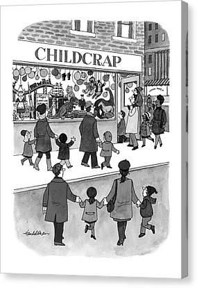 Toy Store Canvas Print - New Yorker February 17th, 1997 by J.B. Handelsman