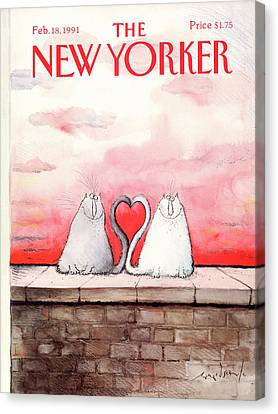 Brick Walls Canvas Print - New Yorker February 18th, 1991 by Ronald Searle