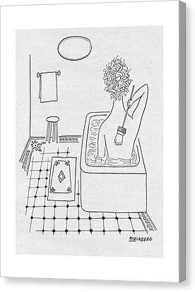 New Yorker February 19th, 1949 Canvas Print by Saul Steinberg