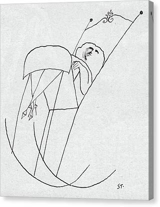 New Yorker February 1st, 1958 Canvas Print by Saul Steinberg
