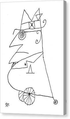 New Yorker February 20th, 1960 Canvas Print by Saul Steinberg