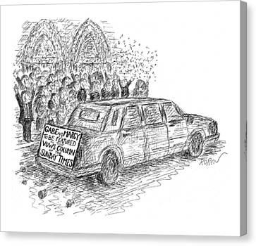 New Yorker February 22nd, 1999 Canvas Print by Edward Koren