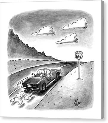 New Yorker February 23rd, 1998 Canvas Print by Frank Cotham