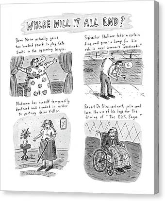 New Yorker February 23rd, 1998 Canvas Print by Roz Chast
