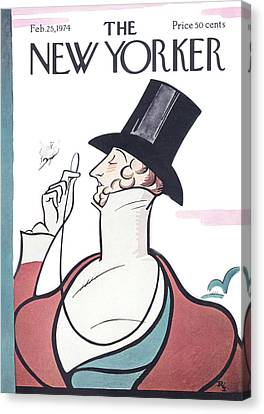 New Yorker February 25th, 1974 Canvas Print by Rea Irvin