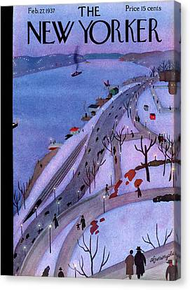 New Yorker February 27th, 1937 Canvas Print by Adolph K. Kronengold