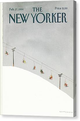 1984 Canvas Print - New Yorker February 27th, 1984 by Abel Quezada
