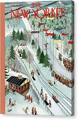New Yorker February 28th, 1953 Canvas Print by Charles E. Martin