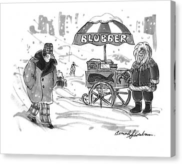 New Yorker February 28th, 1994 Canvas Print by Bernard Schoenbaum