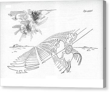 New Yorker February 29th, 1964 Canvas Print by Saul Steinberg
