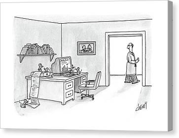 Desktop Canvas Print - New Yorker February 29th, 1988 by Tom Cheney