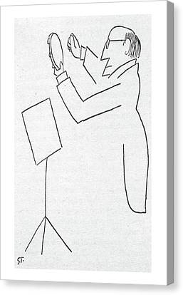 New Yorker February 2nd, 1957 Canvas Print by Saul Steinberg