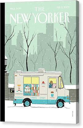 New Yorker February 2nd, 2009 Canvas Print