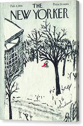 New Yorker February 4th, 1956 Canvas Print