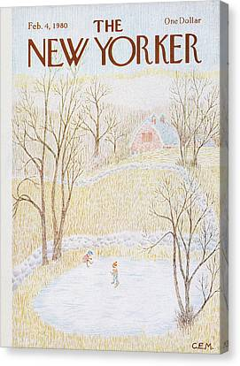 New Yorker February 4th, 1980 Canvas Print