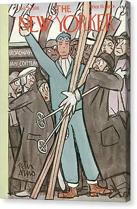 New Yorker February 5th, 1938 Canvas Print by Peter Arno