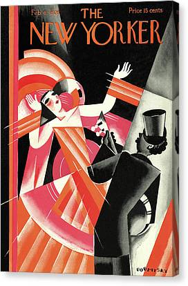 Cubism Canvas Print - New Yorker February 6th, 1926 by Victor Bobritsky