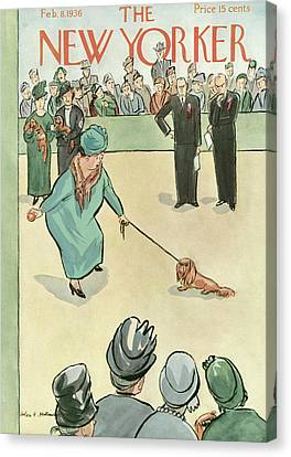 New Yorker February 8th, 1936 Canvas Print by Helen E. Hokinson